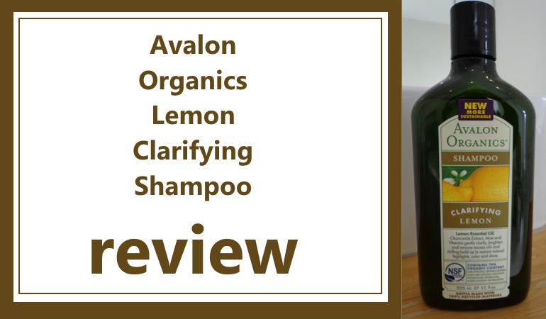 avalon organics clarifying lemon shampoo review