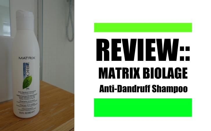 matric biolage anti dandruff shampoo review