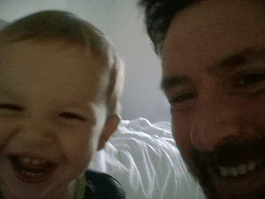 Me and my son. Our first selfie!